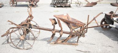 MELOTTE REVERSIBLE PLOUGH, VERY EARLY MODEL