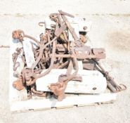 MISC. ARTIFACTS FROM A HORSE DRAWN SEED DRILL