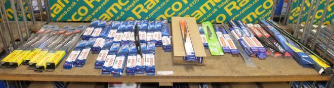 Wiper Blades Bosch, Vistapro, Unipart, Valeo, Tricofit