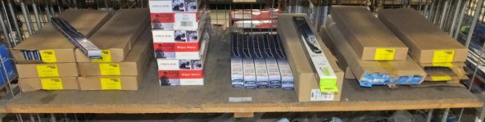 3x Proline Wiper Motors - model WMFIF01 and various boxes of Unipart & Valeo wiper blades