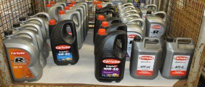 Various Carlube oils and transmission fluids - 2x 15W-40 A3/B4 5L, 4x 5W-30 C1 Low saps 5L