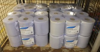 8x Sapphire Cento Centrefeed Rolls 2 ply - 6 per pack