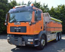 2008 (reg GN58 BXV) MAN TGM 26.330 6x4 with Romaquip 10m3 pre-wet gritter mount and 3m snow plough