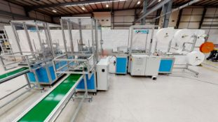 Expert fully automated Mask Making Machine including an Ilapak Smart flow wrapping packaging machine