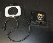Nikon Macro Speedlight SB-21, Nikon AS-14 Macro Speedlight Controller - battery has leaked