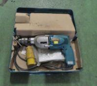 Makita HP2010N Portable Electric Hammer Drill 110v
