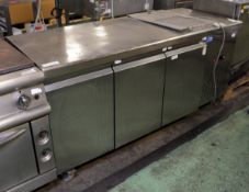 Interlevin 3 door under counter - L2-1755 - 2012 serial 69295 - W 1760mm x D 700mm x H 860