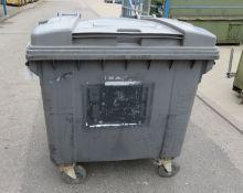 Kilko Industrial 4 wheeled wheeley bin 1000L - 510kg