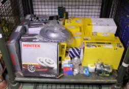 Vehicle parts - Mintex brake discs, LUK Repset clutch kits, stabiliser link, tie rod end