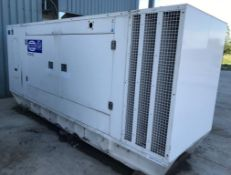 The generator for sale is a 2009 F G Wilson P275 rated at 250Kva prime and 275kva standby
