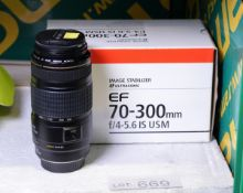Canon 70-300mm lens macro 1.5m / 4.9ft ultrasonic - serial 95808595