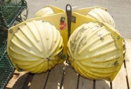 Benthos VacuSealed Sphere GlassFibre Quad Floats W 1150mm x D 1150mm x H 630mm
