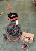 Pallet strapping trolley with tools
