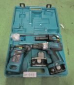 Makita 8444D Electric Drill - 2 Batteries, Charger in a case
