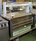 Burlodge Food Servery Trolley Unit - 3 Phase - W1200mm x D700mm x H1400mm