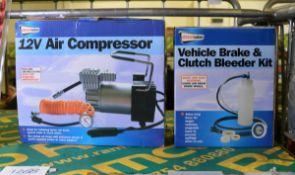 Streetwize 12V Air Compressor 35L/min, Streetwize vehicle brake & clutch bleeder kit