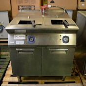Electrolux Stainless Steel Twin Deep Fat Fryer L800mm x W930mm x H1000mm - AS SPARES