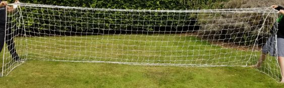 Pair of New Harrod 3mm Heavy Duty Football Goal Nets (16 x 4ft / 4.88 x 1.22m) FBL031