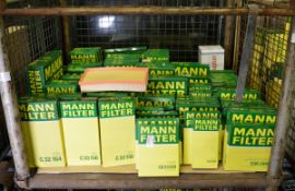 Vehicle parts - Mann air / oil / cabin filters - see pictures for models and types