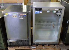 Coreco Valera EC-85 single door freezer - W 510mm x D 500mm x H 830mm & LEC single door gl