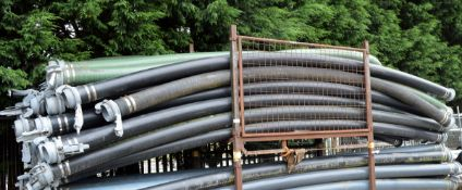 34x Drainage pumping pipes with M&F Connectors L 6000mm - STILLAGES NOT INCLUDED