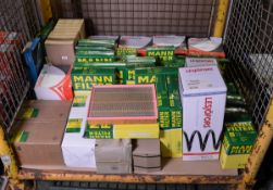 Vehicle parts - Various filters - Mann, Solid Auto, Lesjofors coil springs