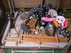 Children's Activity Toys, Swords, Bow & Arrow, Foam Clubs