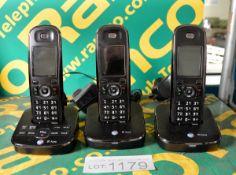 3x BT Aura cordless phones