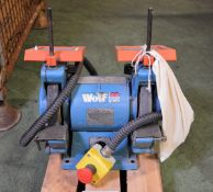 Wolf double headed bench grinder
