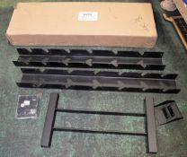 """2 Sided """"A"""" frame dumbell rack (black)"""