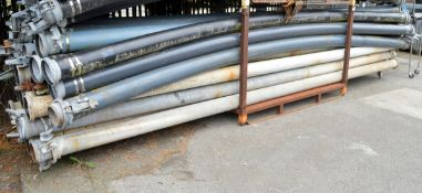 33x Drainage pumping pipes with M&F Connectors L 6000mm - STILLAGES NOT INCLUDED