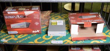 2x Plextor 40x Internal CD-ROM Drives