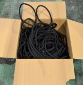 Black Fibrous Abseil Rope - 11mm - unknown length