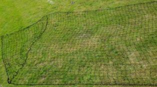 Football goal net in black 24ft x 8ft with mesh 12cm
