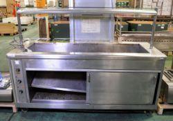 Inox Bain Marie With Hotcupboard - L 1950mm x D 740mm x H 1450mm