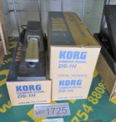 4x Korg DS-1H damper pedals