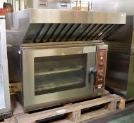 Lainox Combi oven - LX TYP ABE054S - 2012 - 3 phase - 400V - 50hz with extraction hood att