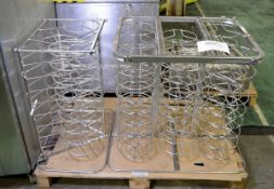 Rational Mobile plate rack for type 101 - 1x 3 stack, 1x 6 stack