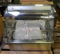 Inomak 4 pan servery counter - W 740mm x D 630mm x H 680mm
