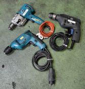 ELU BM11E Portable Electric Drill 240v, Black + Decker D420 Portable Electric Drill 240v &