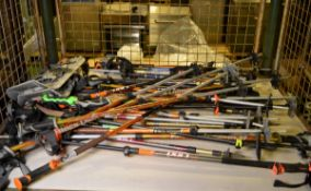Various Ski Sticks approx 25 Sets, Snowshoe