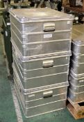 3x Zarges Aluminium Storage Cases L 790mm x W 590mm x H 410mm