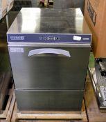 Maidaid dishwasher - C505WSP - 6.5kW - 230V 1 phase 50hz - W 580mm x D 610mm x H 810mm