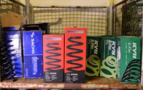 Vehicle parts - KYB, Sachs, Drivemaster coil springs - see pictures for models and types