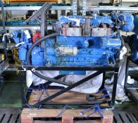 Perkins Diesel Engine - Sabre straight 6 cylinder - with gear box - UNTESTED