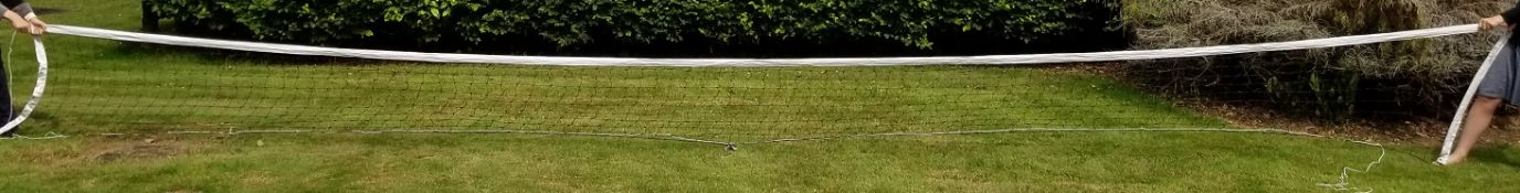 Volleyball net 9.6m x 1m with mesh 10cm