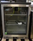 Gamko glass front fridge - 2 shelves - W 600mm x D 510mm x H 850mm