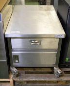 Storage unit - 1 runner & 1 cupboard - W 600mm x D 890mm x H 600mm
