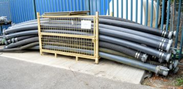 25x Drainage pumping pipes with M&F Connector Various Lengths - STILLAGES NOT INCLUDED