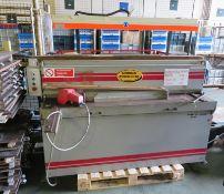 Morgan Rushworth powered guillotine - DDPG 1500 / 3.5 / 33MW195 / 296 - capacity 3.5mm'